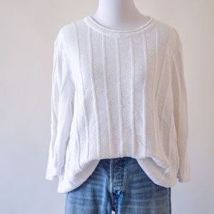 Cotton and Ramie Ribbed Sweater